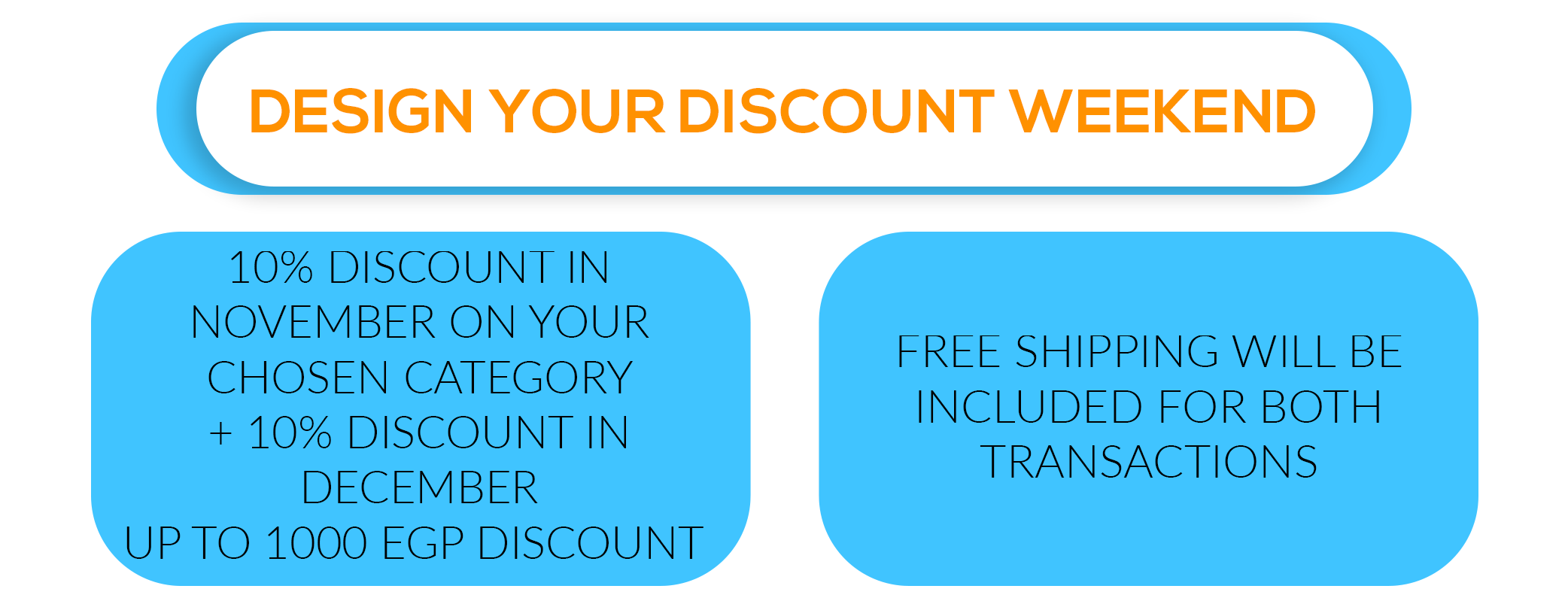 10% Discount for november + 10% Discount for december